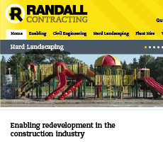 Randall Contracting Website Design