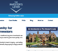The Investor's Lever Website Design
