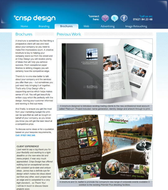 Website Design 2009 content